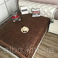 Покривало Норка в спальню ALBO 200х230 см Шоколадне (P-A04-2), фото 2
