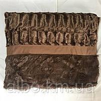 Покривало Норка в спальню ALBO 200х230 см Шоколадне (P-A04-2), фото 6
