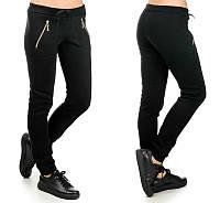 Женские утепленные брюки Молния (черные), фото 1