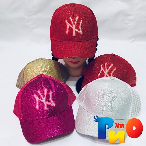Детская летняя кепка, яркий глиттер, для девочек (р-р 52-54), (5 ед.в уп.)