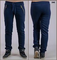 Женские утепленные брюки Молния (темно-синие), фото 1