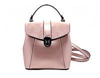 Женская кожаная сумка-рюкзак Laura Biaggi (141330) розовая, фото 1