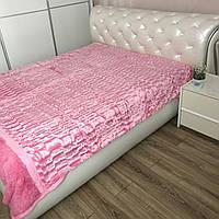 Покрывало из искусственного меха 200х230 см Норка, розовое (05) на кровать, диван, фото 1