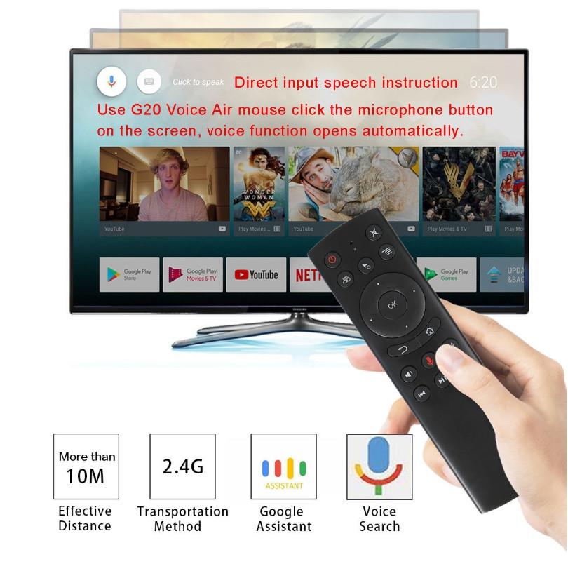 G20S Air mouse USB 2 4G (гироскоп + голосовое управление)