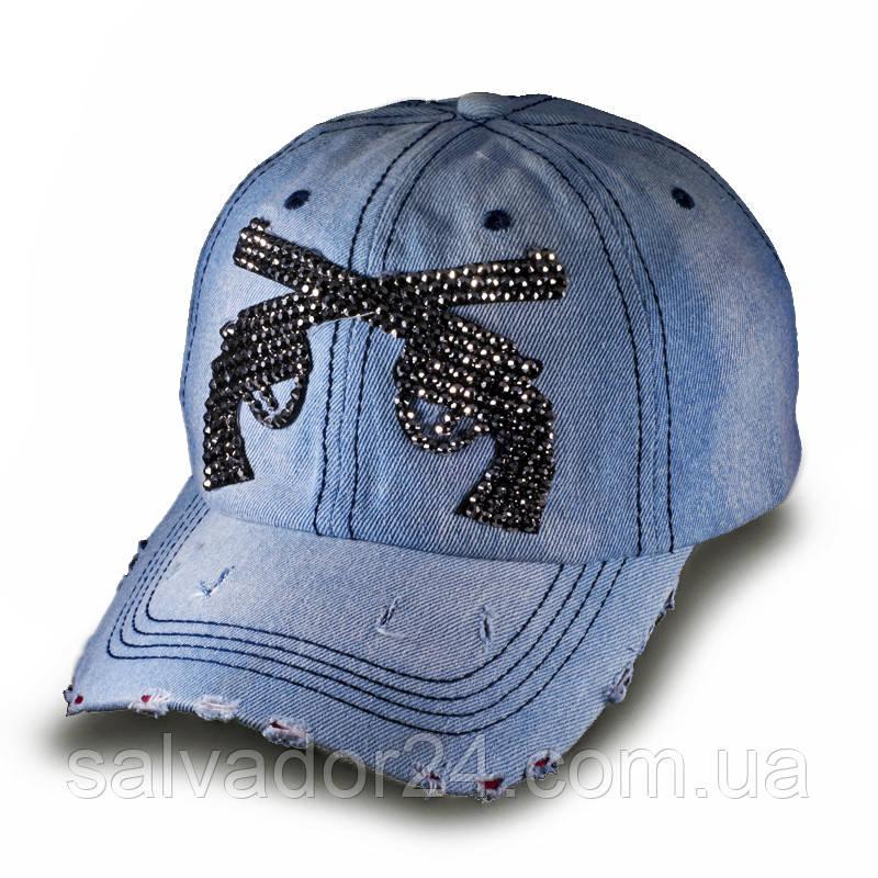Женская джинсовая бейсболка, кепка Пистолеты Denim