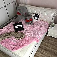 Покрывало из искуственного меха (200х230) Норка, нежно розовый(21), фото 1