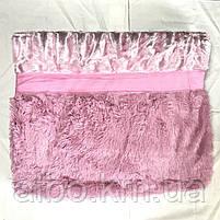 Покрывало двусторонее Норка ALBO 200х230 cm Нежно Розовое (P-A21), фото 4