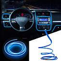 Гибкий светодиодный неон LTL для автомобиля 5 метров DC 12v Blue, фото 3