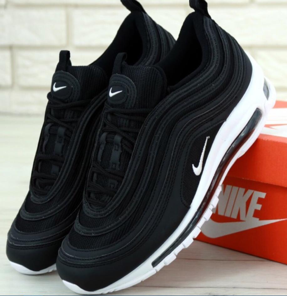 Мужские кроссовки Nike Air Max 97 Black, Найк Аир Макс 97 Черные