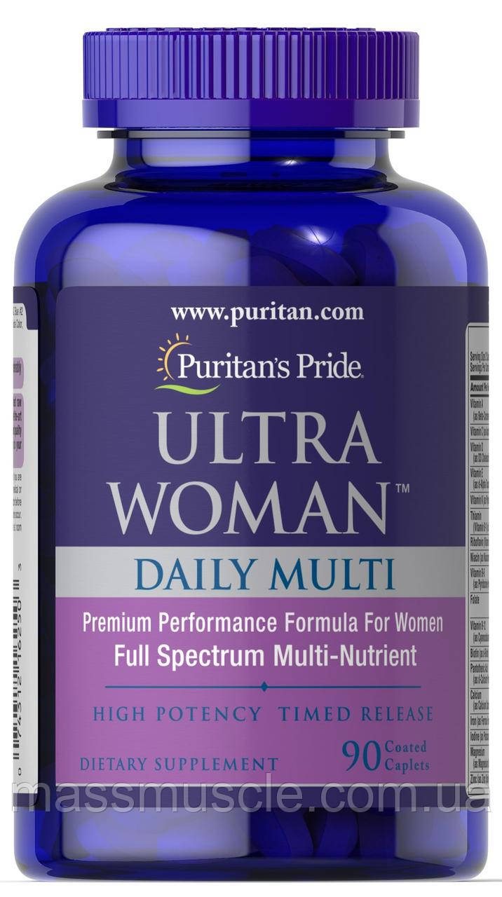 Вітаміни для жінок Puritan's Pride Ultra Woman Daily Multi Timed Release 90 caps