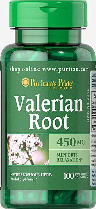 Заспокійливе Puritan's Pride Valerian Root 1000 mg 90 caps