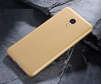 Чехол MAKAVO для Meizu M5C Бампер Матовый ультратонкий Gold