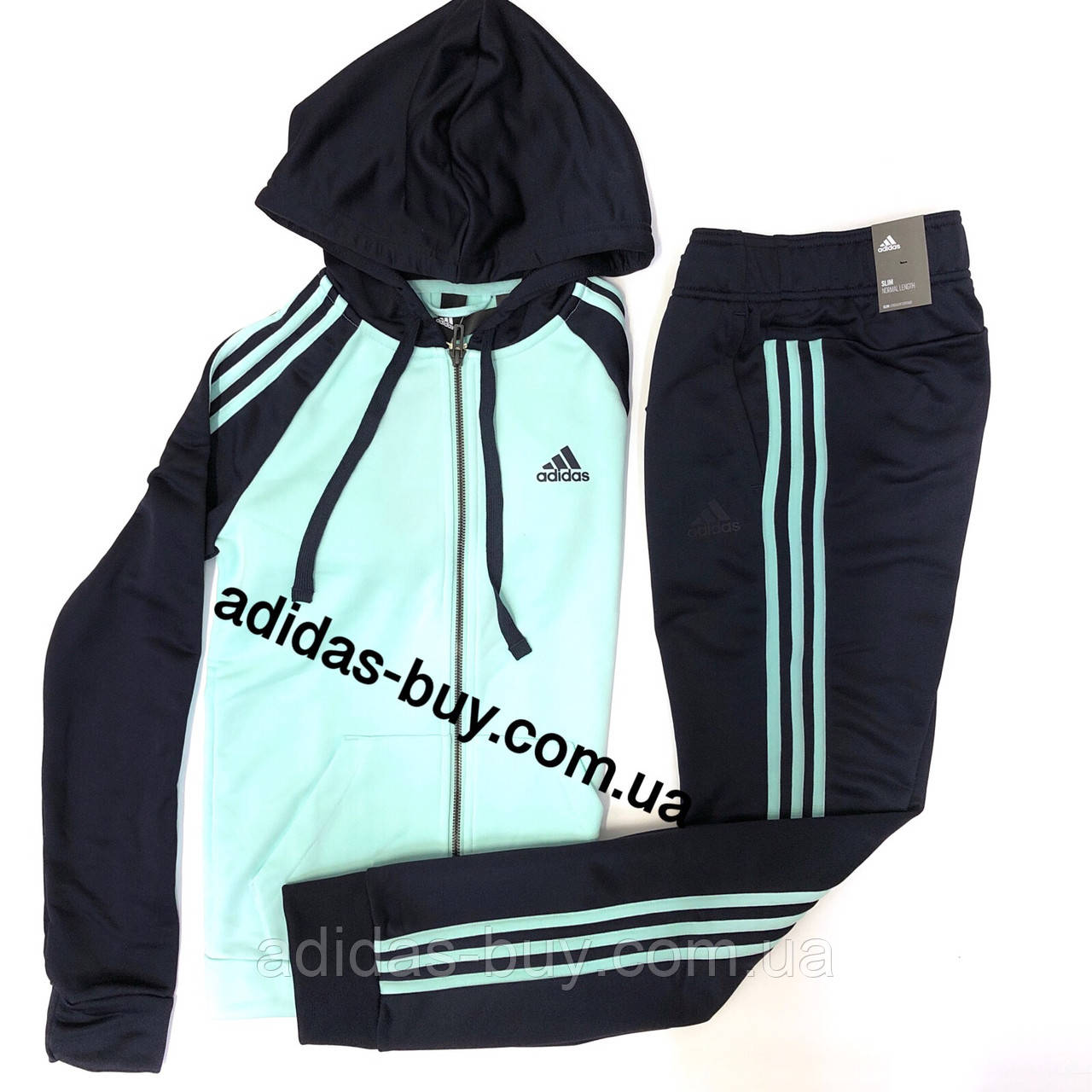 04e39dbb36f Женский костюм оригинал adidas Re-Focus DN8527 сезон весна цвет синий  бирюзовый -