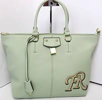 Женская сумка нежно - мятного цвета из качественного кожзаменителя
