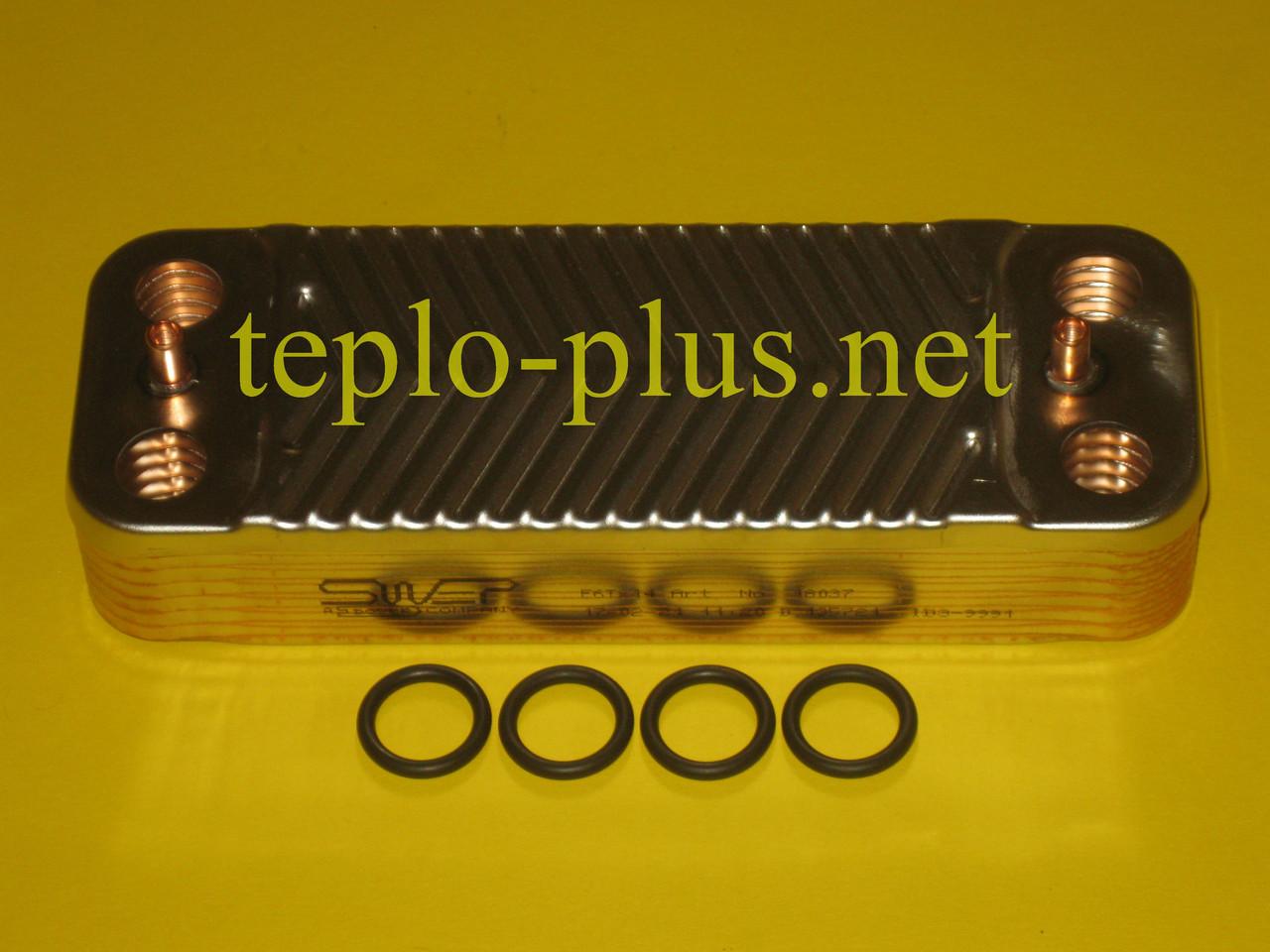 Теплообменник вторичный (14 пластин) 0020025294 Protherm Тигр (Tiger) 24 KTV 12, 24 KOV 12