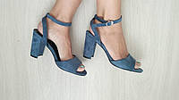 Женские босоножки MeiDeLi EA88-35 голубая замша, фото 1