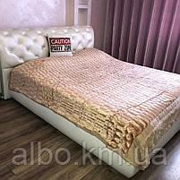 Покрывало из искуственного меха на кровать диван, двуспальное покрывало в комнату на кровать диван, покрывала, фото 7