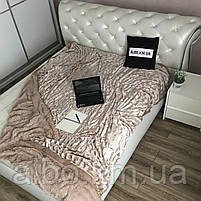 Покрывало Норка на кровать ALBO 200х230 cm Бежевое (P-A03), фото 2
