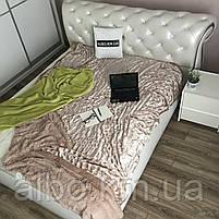 Покрывало Норка на кровать ALBO 200х230 cm Бежевое (P-A03), фото 3