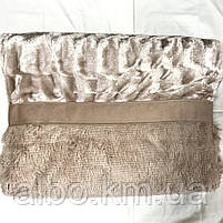 Покрывало Норка на кровать ALBO 200х230 cm Бежевое (P-A03), фото 6