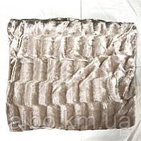 Покрывало Норка на кровать ALBO 200х230 cm Бежевое (P-A03), фото 8
