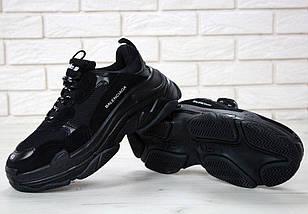 Женские и мужские кроссовки Balenciaga Triple S Black, баленсиага, фото 3