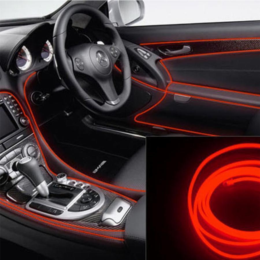 Гибкий светодиодный неон LTL для автомобиля 5 метров DC 12v Red