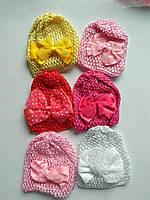 Набор детских шапочок с бантиком , фото 1