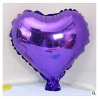 Шар фольгированный сердце ФИОЛЕТОВОЕ, 9 дюймов (23 см)