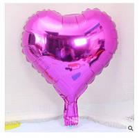 Куля фольгована серце МАЛИНОВЕ, 9 дюймів (23 см)