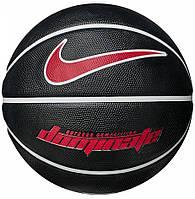 Мяч баскетбольный резиновый для улицы и зала Nike Dominate BLACK/WHITE/RED размер 7