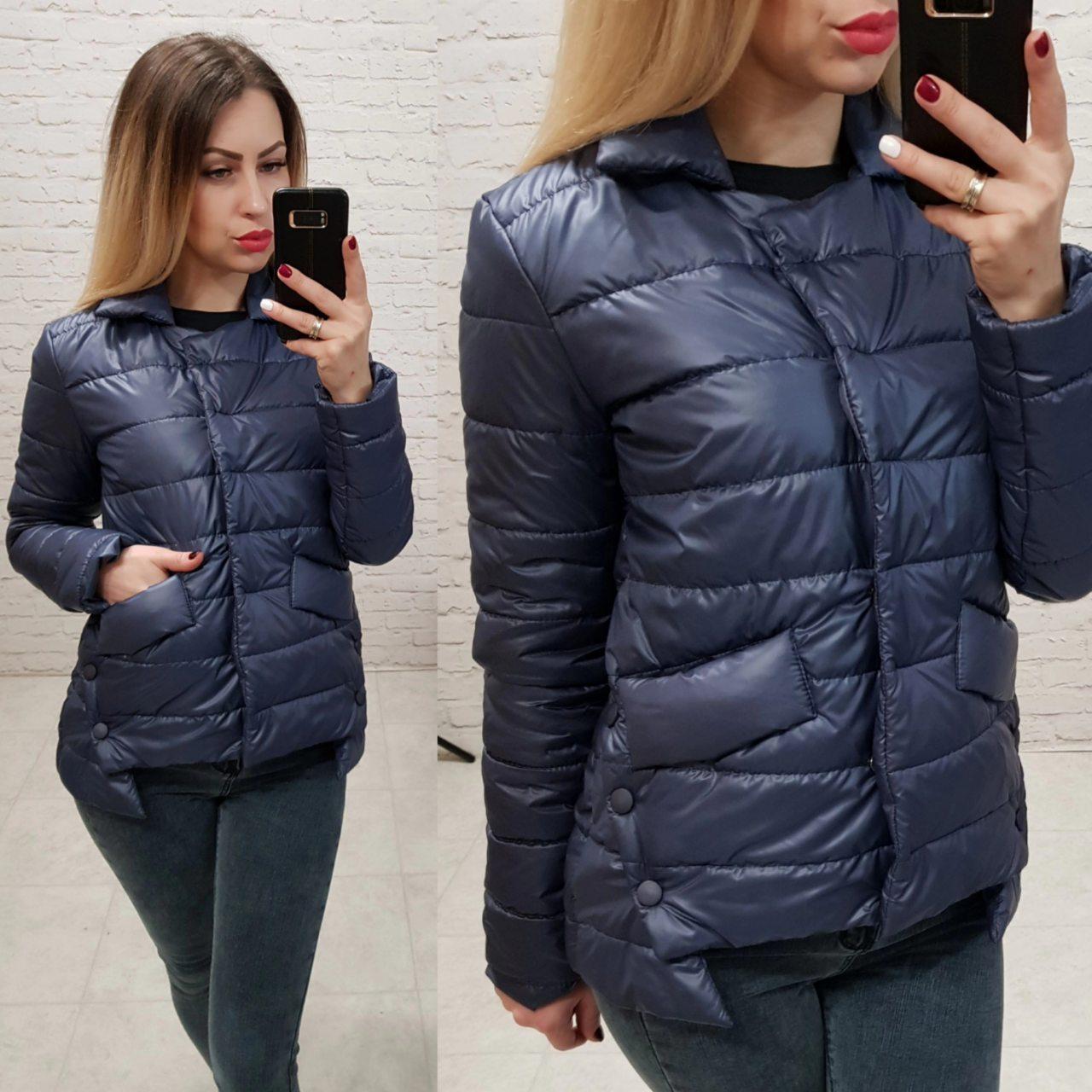 Куртка демисезон, ВЕСНА 2019, модель 332, цвет - темно синий