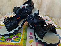 Сандалии босоножки на мальчика кожа 27-33 размер Ортопед. синие
