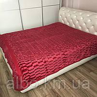 Двуспальное покрывало к комнату на кровать диван, бордовое покрывало на кровать диван, плед бордовый на, фото 5
