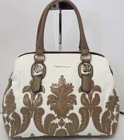 Женская сумка из качественного кожзаменителя с аппликацией , фото 1