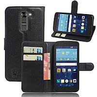 Чехол-книжка Litchie Wallet для LG K7 X210 Черный