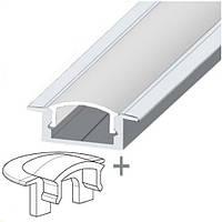 Комплект. Профиль для светодиодной ленты врезной 7х16 мм. ЛПВ7. Прозрачный. Неанодированный.