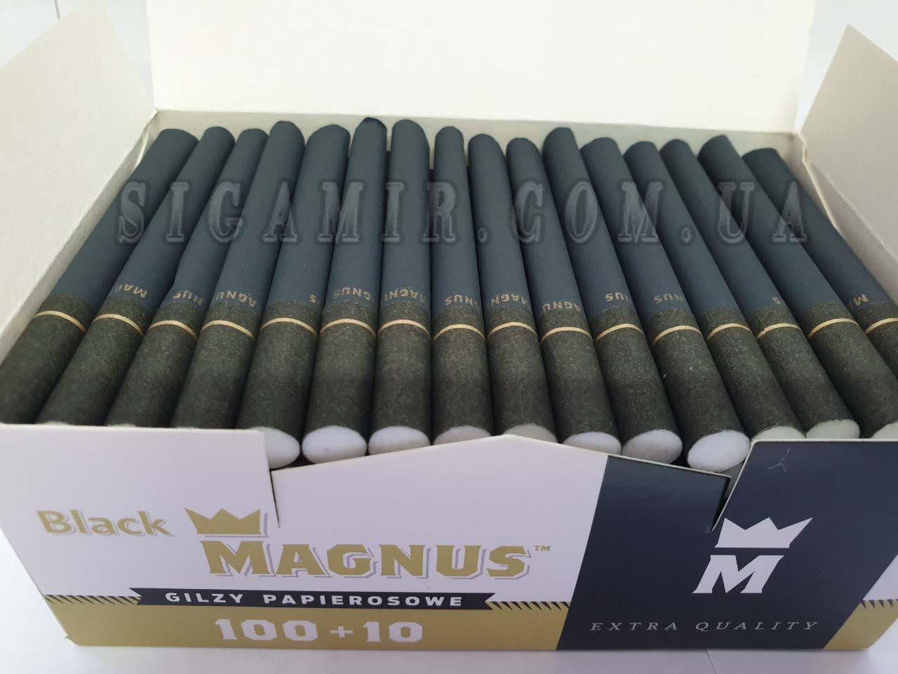 Сигаретные гильзы (черные) Magnus Black 100 штук