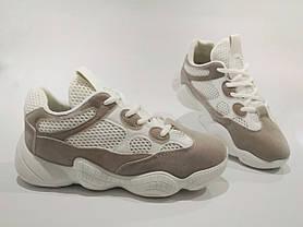 Adidas Yeezy 500 БІЛІ  КОПІЯ  жіночі кросівки адідас ізі 500, фото 2