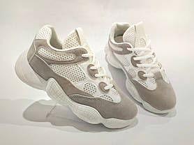 Adidas Yeezy 500 БІЛІ  КОПІЯ  жіночі кросівки адідас ізі 500, фото 3