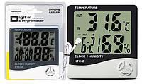 Гигрометр HTC-2 термометр часы будильник, фото 1