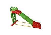 Детская горка игровая пластиковая 243 см с лестницей и подключением воды Зеленая (горка спуск), фото 1