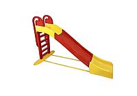 Дитяча ігрова гірка пластикова 243 см зі сходами і підключенням води Червона (гірка спуск), фото 1