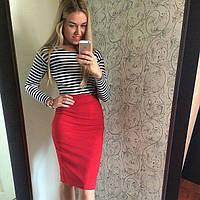 Стильная юбка-карандаш до колена (разные цвета)