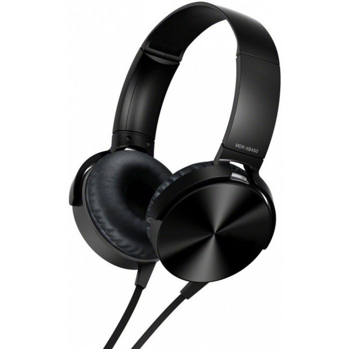 Накладные проводные стерео наушники MDR XB 450 Чёрные
