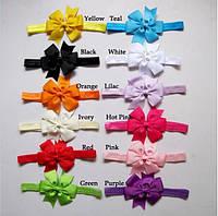 Красивая повязка для девочки с бантиком