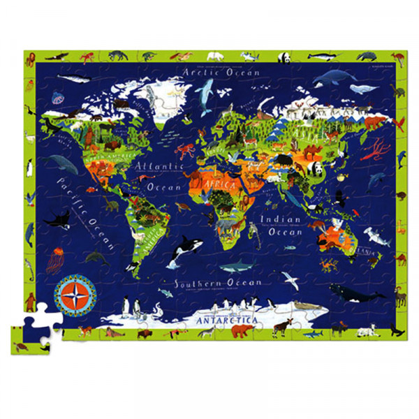Discover Puzzle (100 элементов) Пазл-игра Bertoy Карта Мира 382920-1