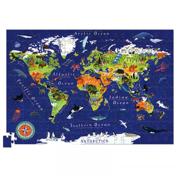 Poster & Puzzle (200 деталей) Bertoy Карта Мира 382873-5
