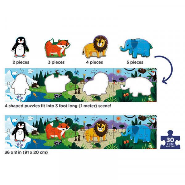 Long Puzzle (30 деталей) Bertoy Животные мира 355246