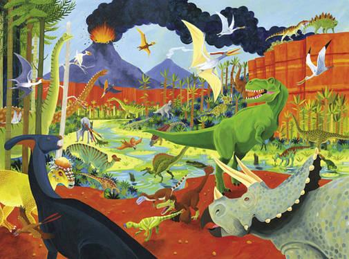 Пазл на 300 элементов Bertoy Динозавры 384068-1                                                     , фото 2
